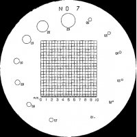 MITUTOYO - 183-108 - RETICLE #7 FOR PKT COMPARATOR