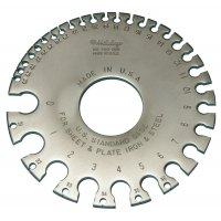 MITUTOYO - 950-203 - WIRE GAGE, US STANDARD, 0-36  - CROSSOVER OF STARRETT PRODUCT NUMBER:  283