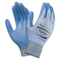 Ansell HyFlex® Coated Gloves - HyFlex Coated Gloves, 7, Blue/Gray - 012-11-518-7 - Ansell