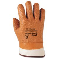 Ansell Vinyl Gloves - Vinyl Gloves, Raised Finish, 10, Orange - 012-23-173-10 - Ansell