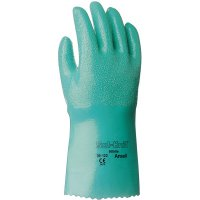 Ansell Sol-Knit™ Nitrile Gloves - Sol-Knit Nitrile Gloves, Gauntlet Cuff, Interlock Knit Cotton Lined, Size 8, GN - 012-39-122-8 - Ansell