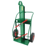 """Anthony Heavy-Duty Reinforced Frame Dual-Cylinder Carts - Heavy-Duty Reinforced Frame Dual-Cylinder Carts, 16"""" Solid Rubber Wheels - 021-94LFW16S - Anthony"""