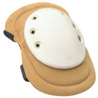 Allegro® Welding Knee Pads - Welding Knee Pads, Elastic Strap; Quick-Release Buckle, Tan; White - 037-6991-01Q - Allegro®