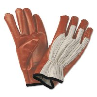 Honeywell North® Worknit® HD Supported Nitrile Gloves - Worknit HD Supported Nitrile Gloves, Band, Cotton, Large, Beige - 068-85/3729L - Honeywell