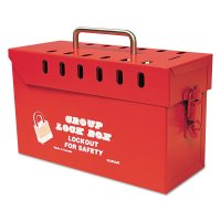 Honeywell North® Group Lock Boxes - Group Lock Boxes, 4.5 in x 11.5 in, Red - 068-GLB03/E - Honeywell