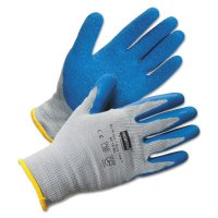 Honeywell North® Duro Task Supported Natural Rubber Gloves - Duro Task Supported Natural Rubber Gloves, Medium, Blue/Gray - 068-NF14/8M - Honeywell