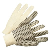 Anchor Brand 1000 Series Dotted Canvas Gloves - 1000 Series Dotted Canvas Gloves, Cotton Canvas, Men's, White - 101-1005 - Anchor Products