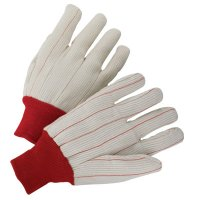 Anchor Brand 1000 Series Canvas Gloves - 1000 Series Canvas Gloves, Mens, Off-White, White Knit-Wrist Cuff - Anchor Products - 101-1070