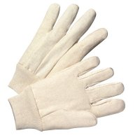 Anchor Brand 1000 Series Canvas Gloves - 1000 Series Canvas Gloves, Large, White, Knit-Wrist Cuff - 101-1110 - Anchor Products
