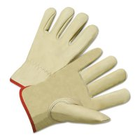 Anchor Brand Driver's Cowhide Gloves - Drivers Gloves, Standard Grain Cowhide, X-Large, Unlined, Tan - 101-4015XL - Anchor Products