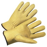 Anchor Brand 4000 Series Pigskin Leather Driver Gloves - 4000 Series Driver Gloves, Premium Grain Pigskin, X-Large, Unlined, Beige - 101-4800XL - Anchor Products