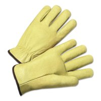 Anchor Brand 4000 Series Pigskin Leather Driver Gloves - 4000 Series Driver Gloves, Standard Grain Pigskin, Medium, Unlined, Tan - 101-4900M - Anchor Products