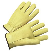 Anchor Brand 4000 Series Pigskin Leather Driver Gloves - 4000 Series Driver Gloves, Standard Grain Pigskin, X-Large, Unlined, Tan - 101-4900XL - Anchor Products