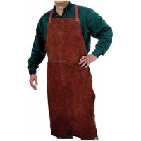 Best Welds Leather Bib Aprons - Leather Bib Apron, 24 in x 48 in, Golden Brown - 902-Q-7 - Best Welds
