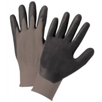 Anchor Brand Nitrile Coated Gloves - Nitrile Coated Gloves, Large, Black/Gray, Work - 101-6020-l - Anchor Products