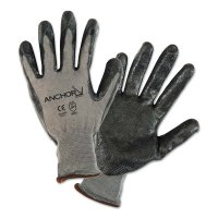 Anchor Brand Nitrile Coated Gloves - Nitrile Coated Gloves, Small, Black/Gray, 7 in, Work - 101-6020-S - Anchor Products