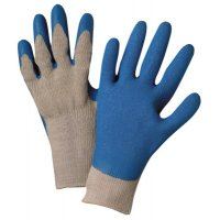 Anchor Brand Latex Coated Gloves - Latex Coated Gloves, Large, Blue/Gray - 101-6030-L - Anchor Products