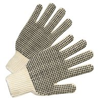 Anchor Brand PVC-Dot String-Knit Gloves - PVC-Dot String-Knit Gloves, Men's, Knit-Wrist, Natural White, Dots 2 Side - 101-6705 - Anchor Products
