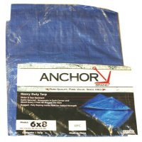 Anchor Brand Multiple Use Tarps - Multiple Use Tarps, 8 ft Long, 6 ft Wide, Polyethylene, Blue - 101-0608 - Anchor Products