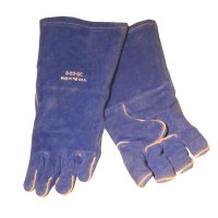 Best Welds Premium Welding Gloves - Premium Welding Gloves, Split Cowhide, Large, Blue - 902-B-20GC - Best Welds