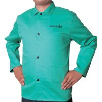 Best Welds Cotton Sateen Jacket - Cotton Sateen Jacket, X-Large, Visual Green - 902-CA-1200-XL - Best Welds