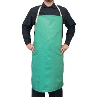 Best Welds Cotton Sateen Bib Aprons - Cotton Sateen Bib Aprons, 24 in x 36 in, Visual Green, w/Leather Reinforcement - 902-CA-600 - Best Welds
