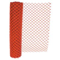 Anchor Brand Chain Link Safety Fence - Chain Link Safety Fence, 4 ft x 100 ft, Polyethelene, Orange - Anchor Products - 101-FEN1009