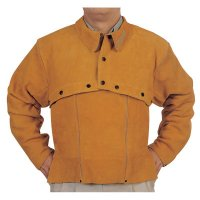 Best Welds Leather Cape Sleeves - Leather Cape Sleeves, Snaps Closure, X-Large, Golden Brown - 902-Q-2-XL - Best Welds