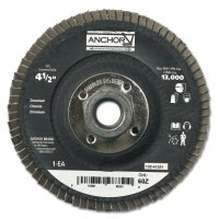 Anchor Brand Abrasive High Density Flap Discs - Abrasive High Density Flap Discs, 4 1/2 in, 60 Grit, 5/8 in-11 Arbor, 12,000 rpm - 102-41391 - Anchor Products