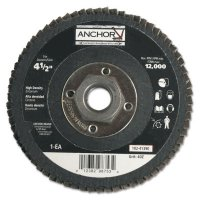 """Anchor Brand Abrasive High Density Flap Discs - Abrasive High Density Flap Discs, 4 1/2"""", 40 Grit, 5/8"""" - 11 Arbor, 12,000 RPM - 102-41390 - Anchor Products"""