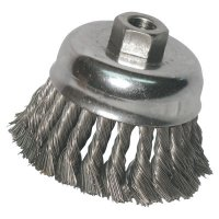 Anchor Brand Knot Cup Brushes - Knot Wire Cup Brush, 6 in Dia., 5/8-11 Arbor, .025 in Carbon Steel - 102-6KC25 - Anchor Products