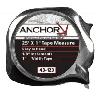 Anchor Brand Easy to Read Tape Measures - Easy to Read Tape Measures, 1 in x 25 ft, Chrome - 103-43-123 - Anchor Products