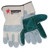 MCR Safety Sidekick® Double Select Side Leather Gloves - Sidekick Side Leather Gloves, Large, Leather - 127-16010L - MCR Safety