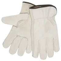 MCR Safety Unlined Drivers Gloves - Drivers Gloves, Select Grade Cowhide, Large, Unlined - 127-3211L - MCR Safety