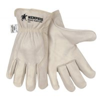 MCR Safety Road Hustler Drivers Gloves - Road Hustler Drivers Gloves, Cow Grain Leather, Extra Large, Beige - 127-3224XL - MCR Safety