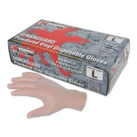 MCR Safety Disposable Vinyl Gloves - Disposable Vinyl Gloves, Gauntlet, Powdered, 5 mil, Medium - 127-5020M - MCR Safety