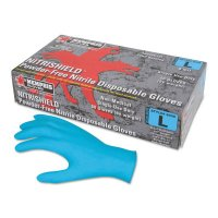 MCR Safety Nitrile Disposable Gloves - Nitrile Disposable Gloves, Powder Free; Textured, 8 mil, Large, Blue - 127-6030L - MCR Safety