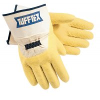 MCR Safety Tufftex Supported Gloves - Tufftex Supported Gloves, Large, Yellow, Rubberized Safety Cuff - 127-6820 - MCR Safety