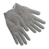 MCR Safety Knit Gloves - Knit Gloves, Large, Hemmed, Heavy Weight, Gray - 127-9507LM - MCR Safety