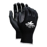MCR Safety PU Coated Gloves - PU Coated Gloves, X-Large, Black/Green - 127-9669XL - MCR Safety