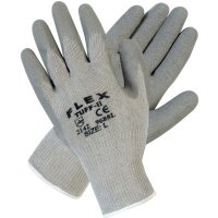 MCR Safety Flex Tuff-II Latex Coated Gloves - Flex Tuff-II Latex Coated Gloves, Large, Gray - 127-9688L - MCR Safety