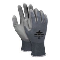MCR Safety UltraTech PU™ Coated Gloves - UltraTech PU Coated Gloves, Small, Gray - 127-9696S - MCR Safety