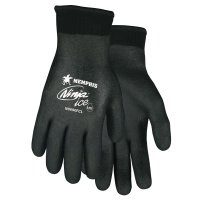 MCR Safety Ninja® Ice Gloves - Ninja Ice Gloves, Large, Black, 1.083 in, 1.083 in, Fully Coated - 127-N9690FCL - MCR Safety