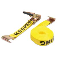 Ratchet Tie-Down Straps, Flat Hooks, 2 in W, 27 ft L, 10,000 lb Capacity - 130-04623 - Keeper®