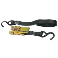 Keeper® Ratchet Tie-Down Straps - Ratchet Tie-Down Straps, S-Hooks, 1 in W, 10 ft L, 900 lb Capacity - 130-05508V - Keeper®