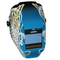 Jackson Safety WH40 Insight Halo X Variable Auto-Darkening Filter Welding Helmets - WH40 Insight Halo X Variable Welding Helmet, Green; 9-13, Blue w/Gold Wings - 138-46100 - Kimberly-Clark Professional