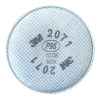 3M™ Personal Safety Division 2000 Series Filters - 2000 Series Filters, Solids/Liquids/Oil Based Part/Metal Fumes, P95 - 3M - 142-2071