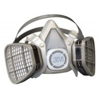 3M™ Personal Safety Division 5000 Series Half Facepiece Respirators - 5000 Series Half Facepiece Respirators, Large, Organic Vapors/P95 - 3M - 142-53P71