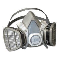3M™ Personal Safety Division 5000 Series Half Facepiece Respirators - 5000 Series Half Facepiece Respirators, Medium, Organic Vapors - 142-5201 - 3M
