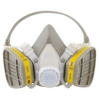 3M™ Personal Safety Division 5000 Series Half Facepiece Respirators - 5000 Series Half Facepiece Respirators, Medium, Organic Vapors/Acid Gases - 3M - 142-5203